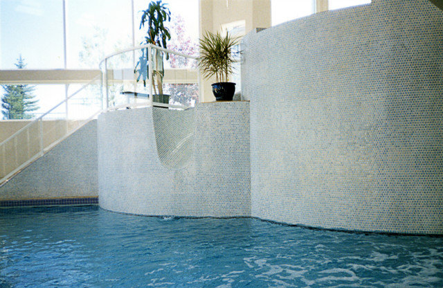 contemporary pool by Master Pools by Dominion Gunite (Calgary) Ltd