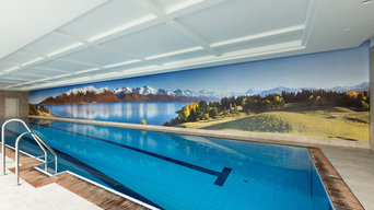 Indoor pool wall (3m high x 28m wide)