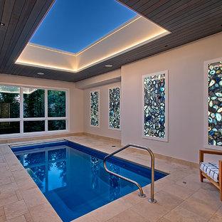 Indoor Pool with Retracting skylight