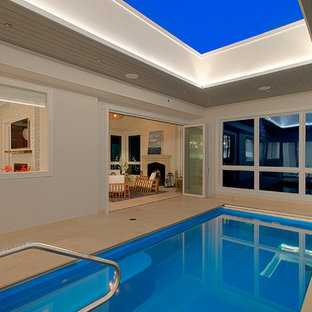 Indoor Pool with retracting skylight- Chicago