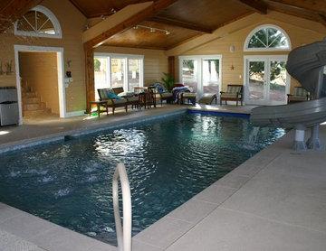 Indoor Pool with Water Slide