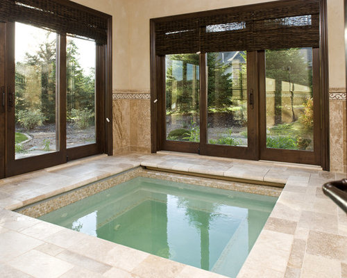 Indoor jacuzzi home design ideas pictures remodel and decor for Pool with jacuzzi designs