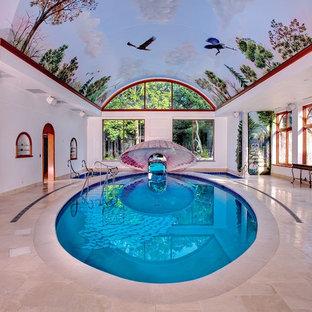 Eclectic indoor round pool photo in Milwaukee