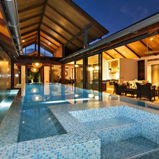 Contemporary Pool by Placid Pools