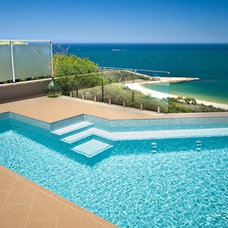 Contemporary Pool by Crystal Pools
