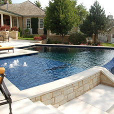 Traditional Pool by Midwest Custom Pools