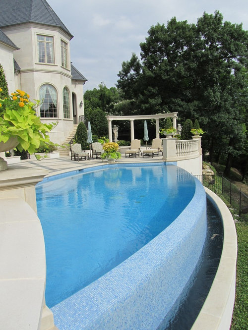 Infinity edge pool home design ideas pictures remodel for Infinity pool design details