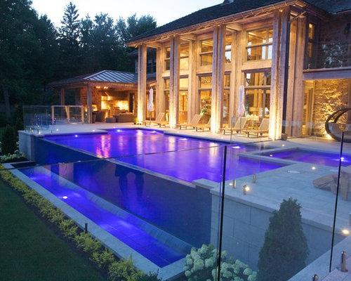 infinity pool in senneville. Black Bedroom Furniture Sets. Home Design Ideas