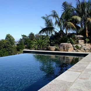 Modelo de piscina infinita tropical