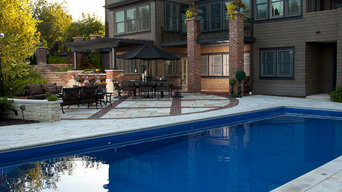 Inground Fiberglass Pool and Hardscape Project