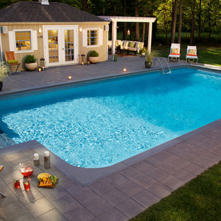 Inground Pool With Pool House and Fire Pit