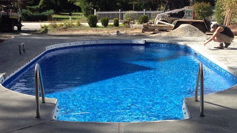 Inground Swimming Pool with Cantilever Edge