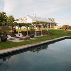Farmhouse Pool by Margot Hartford Photography