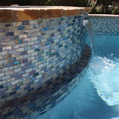 Pool - modern backyard pool idea in Las Vegas