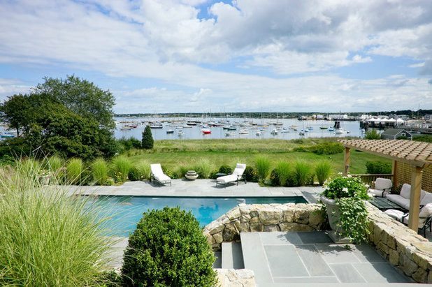Beach Style Pool by Patrick Ahearn Architect