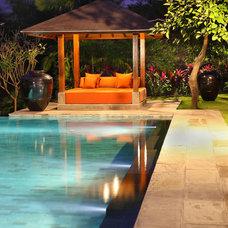 Modern Pool by Island Stone