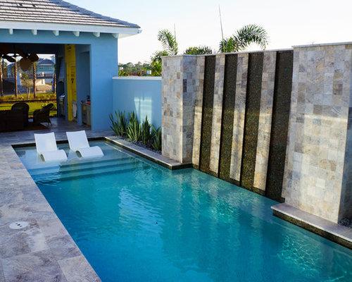 Small modern pool ideas design photos houzz for Casas modernas llc west 12th street dallas tx
