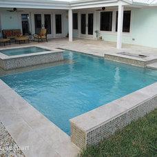 Modern Pool by Travertine Mart