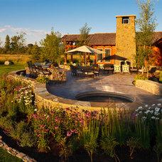 Rustic Pool by Teton Heritage Builders