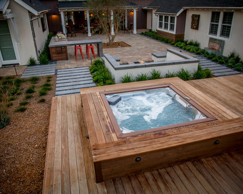 our 50 best small backyard pool ideas remodeling photos houzz. Black Bedroom Furniture Sets. Home Design Ideas