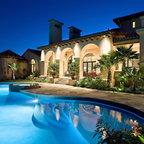 Lake Home Exterior Mediterranean Pool Austin By