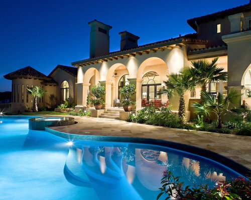 Palm tree landscape ideas pictures remodel and decor for Pool design houzz