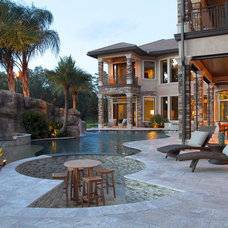 Contemporary Pool by Lendry Homes