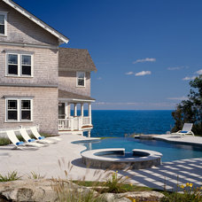 Beach Style Pool by Fabrizio Construction llc
