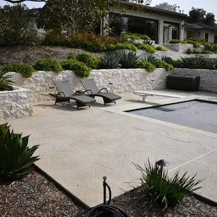 Jerusalem Stone Custom Concrete Stained Pool Deck