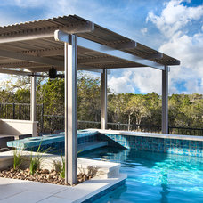 Contemporary Pool by Mary DeWalt Design Group