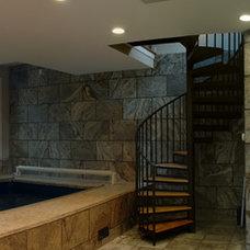 Eclectic Pool by Ruhf Plitt Architects, Ltd.