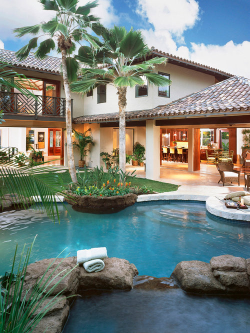 Tropical Pool Design Ideas Remodels Amp Photos
