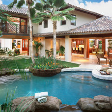 Tropical Pool by Philip White Architects, LLC