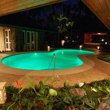 Contemporary Pool by Liquorish Stone and Tile Work
