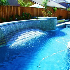 Contemporary Pool by KB Custom Pools