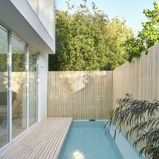 Photo of a large contemporary pool in Melbourne.