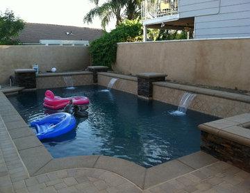 Kennedy residence. Modern contemporary pool & spa.