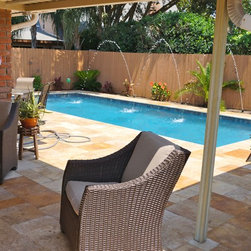 Traditional new orleans compact size pool design ideas for Pool design new orleans