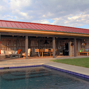 Inspiration for a country pool house remodel in Louisville