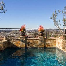 Mediterranean Pool by Outdoor Concepts Landscape & Design