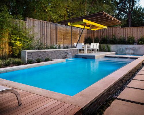 Fotos de piscinas dise os de piscinas modernas con losas - Losas para piscinas ...