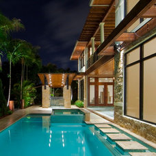 Contemporary Pool by kevin akey -azd architects - florida