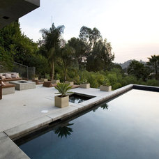 Modern Pool LA Backyard
