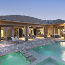 Contemporary Pool by Castle Harbour homes