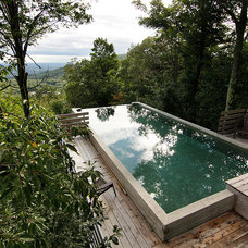 Contemporary Pool by Marie Isabelle Gauthier Architecte