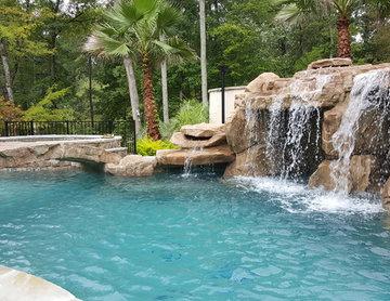 Lagoon 3 level pool