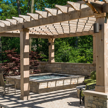 Lake Forest, IL Hot Tub with Pergola