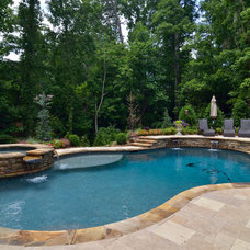 Contemporary Pool by Hall Design Build