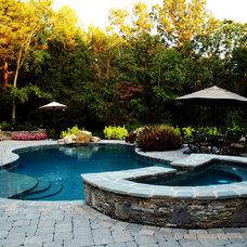 Traditional Pool by Elizabeth Koval, ASID, CKD, CAPS