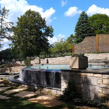 Lake House Infinity Edge Pool and Integrated Spa